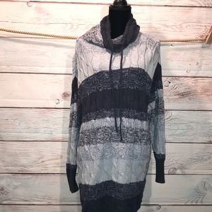 2Xl Chaps cable knit sweater. Cowl neck